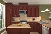 Southern Style House Plan - 3 Beds 2.5 Baths 2004 Sq/Ft Plan #21-175 Exterior - Other Elevation