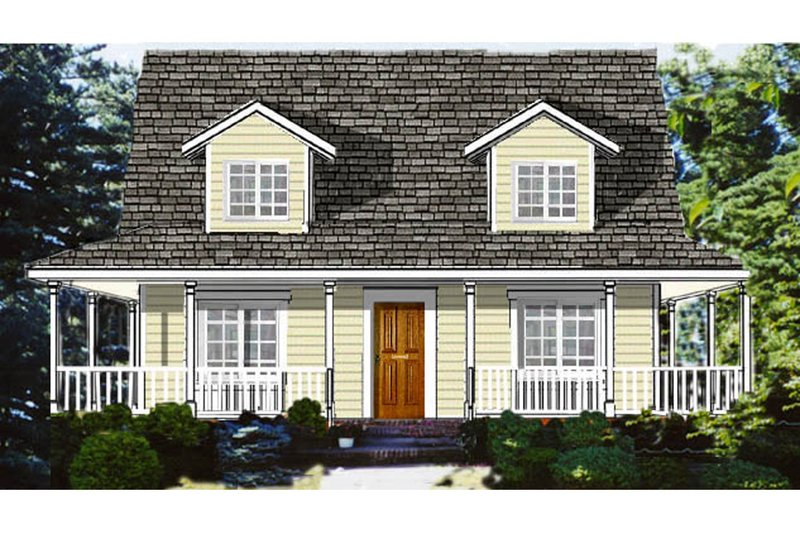 Country Exterior - Front Elevation Plan #3-286