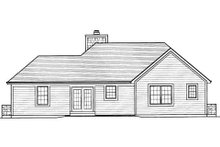 Dream House Plan - Traditional Exterior - Rear Elevation Plan #46-416