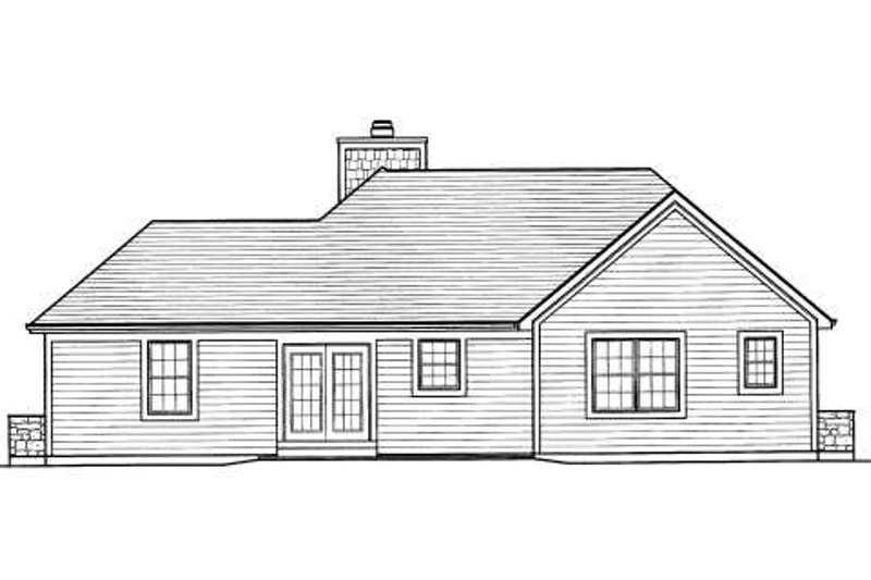 Traditional Exterior - Rear Elevation Plan #46-416 - Houseplans.com