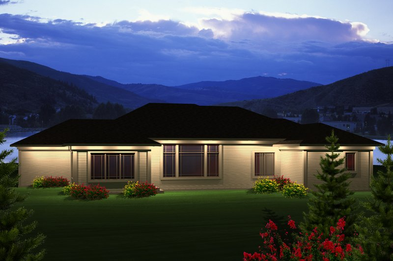 Ranch Exterior - Rear Elevation Plan #70-1120 - Houseplans.com