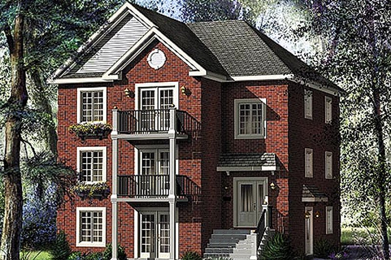Traditional Style House Plan - 3 Beds 1 Baths 3765 Sq/Ft Plan #25-4187 Exterior - Front Elevation