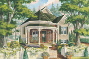 Victorian Style House Plan - 1 Beds 1 Baths 708 Sq/Ft Plan #25-4773 Exterior - Front Elevation