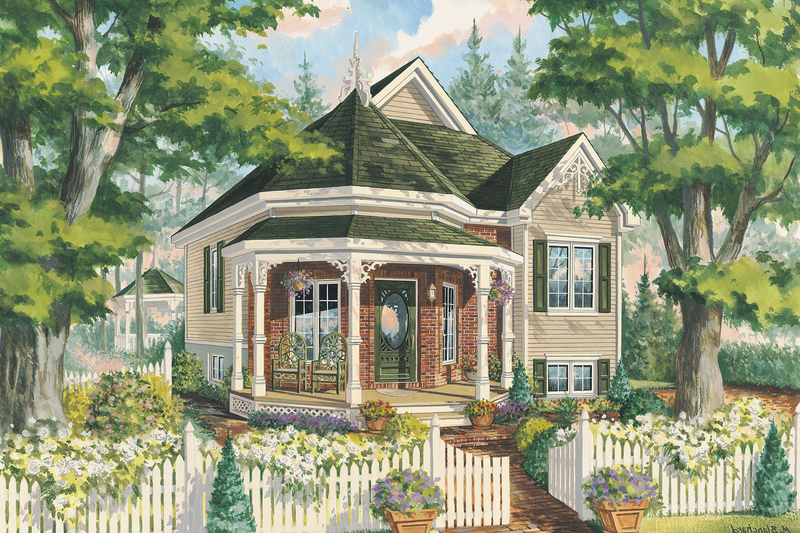 Victorian Style House Plan - 1 Beds 1 Baths 708 Sq/Ft Plan #25-4773
