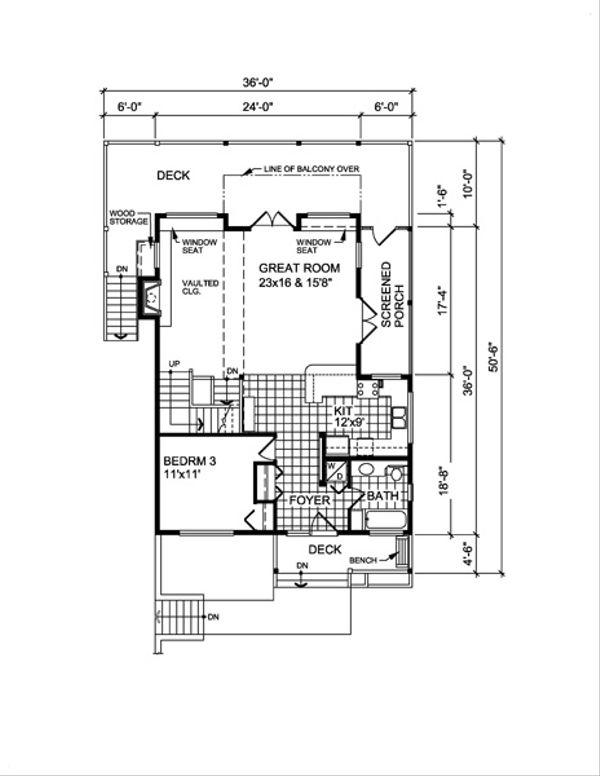 Cottage Floor Plan - Main Floor Plan #118-118