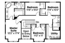 Craftsman Floor Plan - Upper Floor Plan Plan #124-712