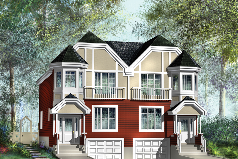 European Style House Plan - 6 Beds 2 Baths 3544 Sq/Ft Plan #25-4393 Exterior - Front Elevation