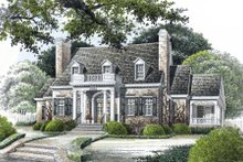 Classical Exterior - Front Elevation Plan #429-16
