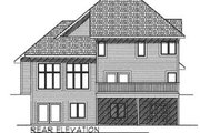 Traditional Style House Plan - 3 Beds 2.5 Baths 2472 Sq/Ft Plan #70-395 Exterior - Rear Elevation