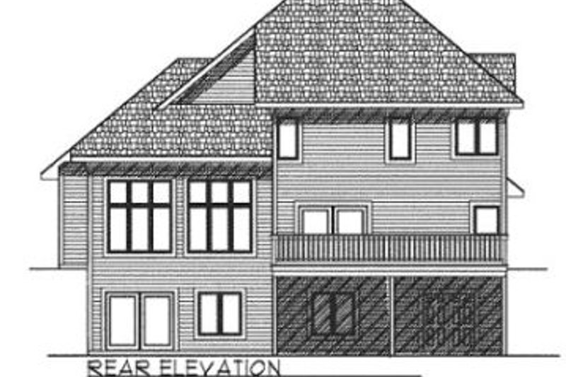 Traditional Exterior - Rear Elevation Plan #70-395 - Houseplans.com