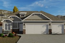Dream House Plan - Craftsman Exterior - Front Elevation Plan #1060-50