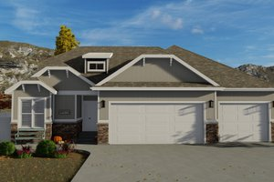 Craftsman Exterior - Front Elevation Plan #1060-50