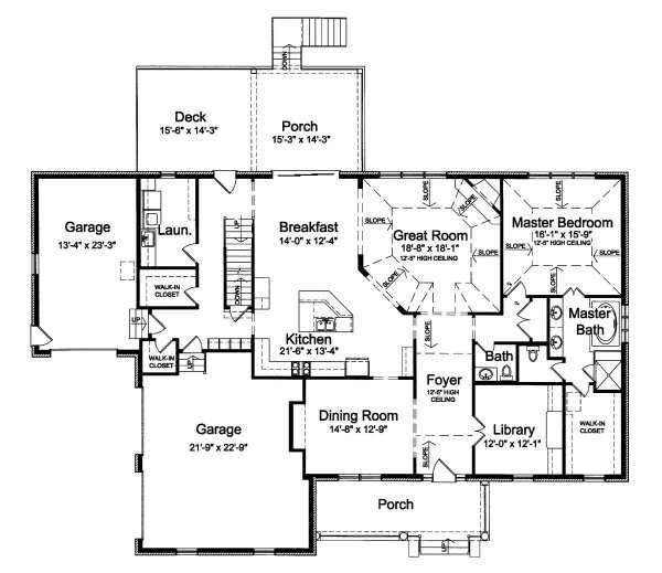 Traditional Floor Plan - Main Floor Plan Plan #46-406