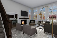 Traditional Interior - Family Room Plan #1060-62