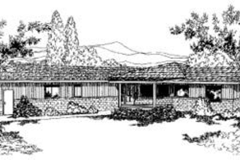 Ranch Exterior - Front Elevation Plan #60-340 - Houseplans.com