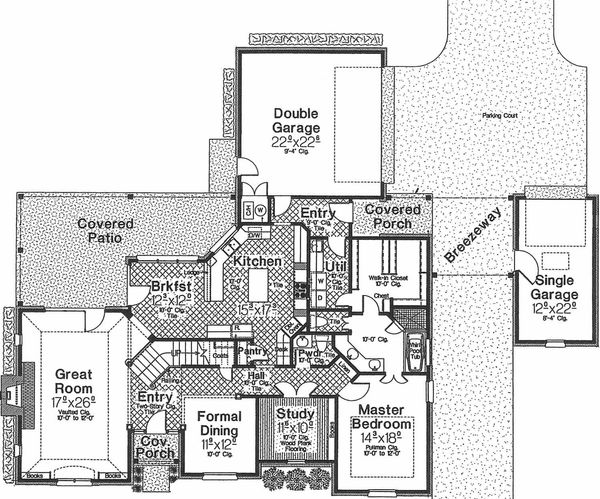 European Floor Plan - Main Floor Plan #310-431