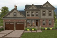 Architectural House Design - Craftsman Exterior - Front Elevation Plan #56-702