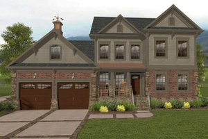 Craftsman Exterior - Front Elevation Plan #56-702
