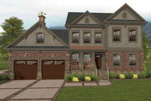 Craftsman Exterior - Front Elevation Plan #56-702