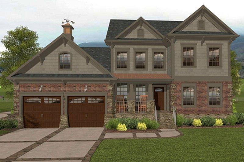Dream House Plan - Craftsman Exterior - Front Elevation Plan #56-702