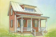 Cottage Style House Plan - 1 Beds 1 Baths 633 Sq/Ft Plan #514-8 Photo