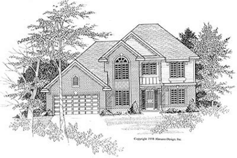 Traditional Exterior - Front Elevation Plan #70-397 - Houseplans.com