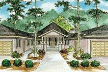 Dream House Plan - Ranch Exterior - Front Elevation Plan #124-729