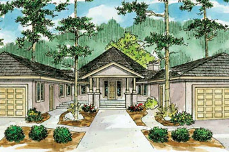Ranch Exterior - Front Elevation Plan #124-729