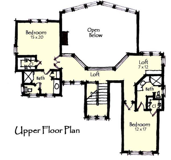 Craftsman Floor Plan - Upper Floor Plan Plan #921-13