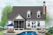 Country Style House Plan - 3 Beds 2.5 Baths 1897 Sq/Ft Plan #929-520 Exterior - Rear Elevation