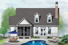 Country Exterior - Rear Elevation Plan #929-520