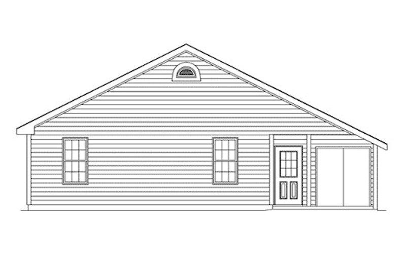 Ranch Exterior - Rear Elevation Plan #57-119 - Houseplans.com