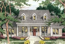 Dream House Plan - Traditional Exterior - Front Elevation Plan #406-268