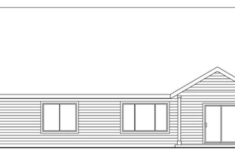 Traditional Exterior - Rear Elevation Plan #124-768 - Houseplans.com