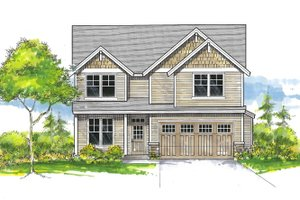 Craftsman Exterior - Front Elevation Plan #53-651