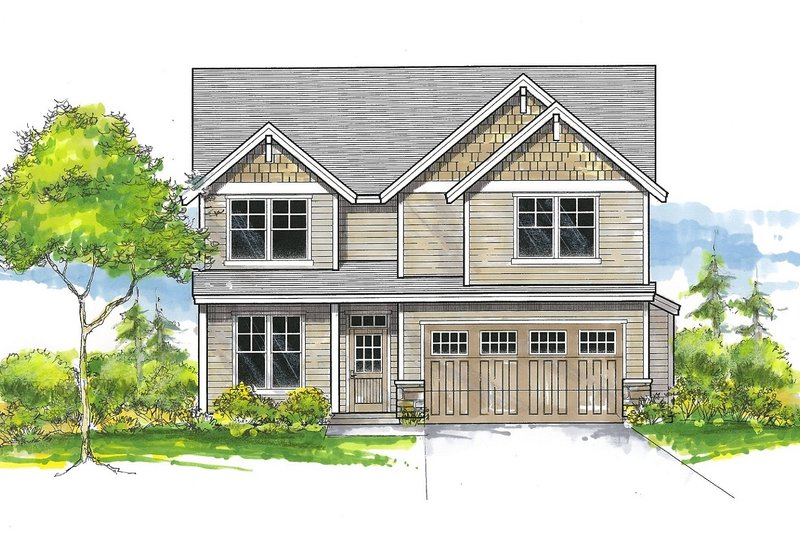 Dream House Plan - Craftsman Exterior - Front Elevation Plan #53-651