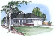 Traditional Style House Plan - 3 Beds 2 Baths 1132 Sq/Ft Plan #409-104 Exterior - Front Elevation