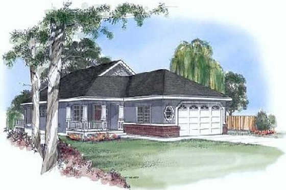 Traditional Exterior - Front Elevation Plan #409-104