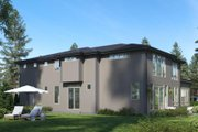 Modern Style House Plan - 5 Beds 4.5 Baths 3886 Sq/Ft Plan #1066-87 Exterior - Rear Elevation