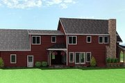 Country Style House Plan - 3 Beds 2.5 Baths 2252 Sq/Ft Plan #75-104 Exterior - Rear Elevation