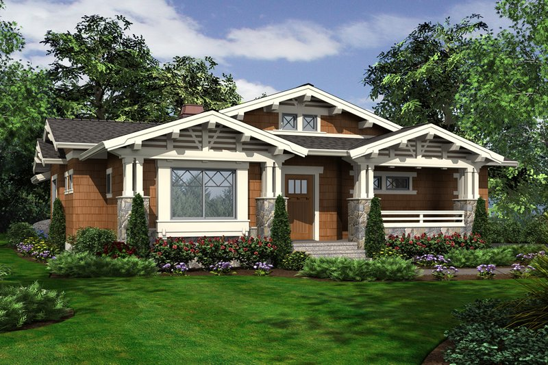 House Design - Craftsman Exterior - Front Elevation Plan #132-194