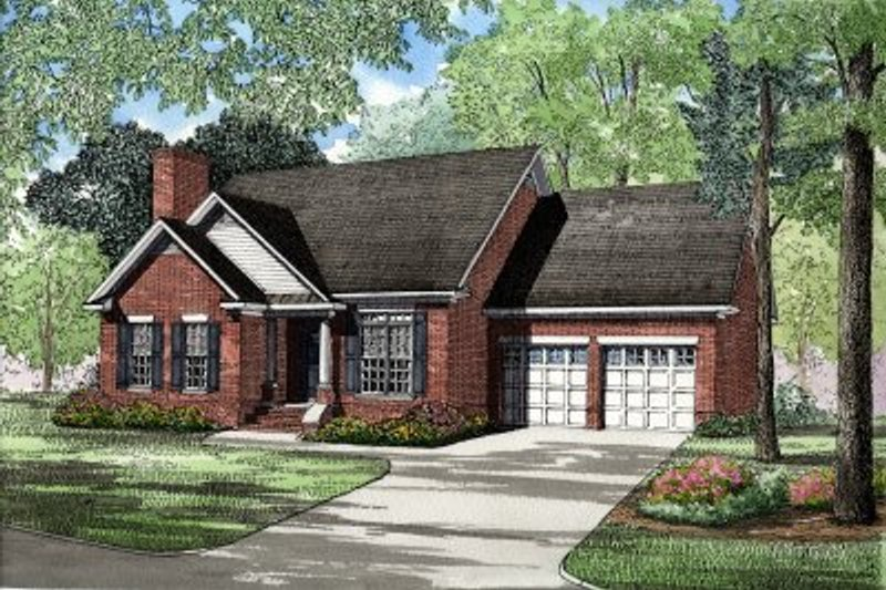 Dream House Plan - Traditional Exterior - Front Elevation Plan #17-1009