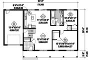 Country Style House Plan - 2 Beds 1 Baths 1200 Sq/Ft Plan #25-4387 Floor Plan - Main Floor