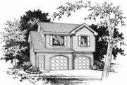 Traditional Style House Plan - 1 Beds 1 Baths 868 Sq/Ft Plan #22-456 Exterior - Front Elevation