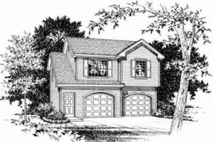 Traditional Exterior - Front Elevation Plan #22-456