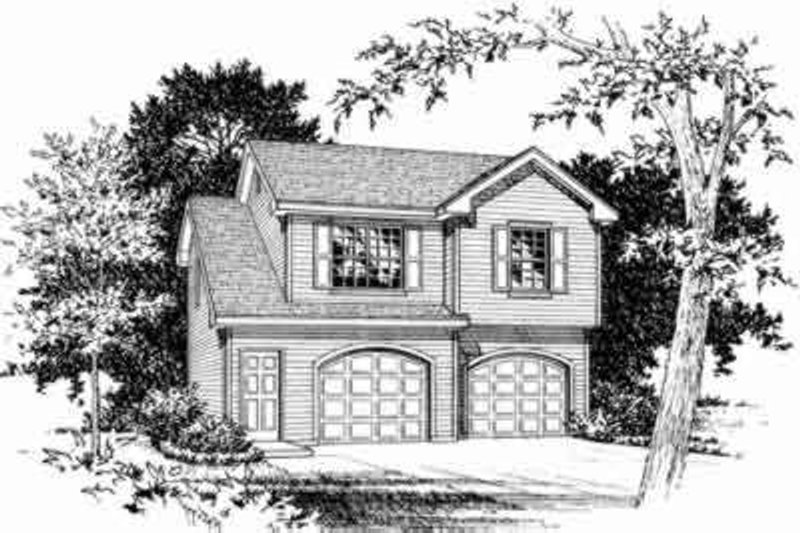 Home Plan - Traditional Exterior - Front Elevation Plan #22-456