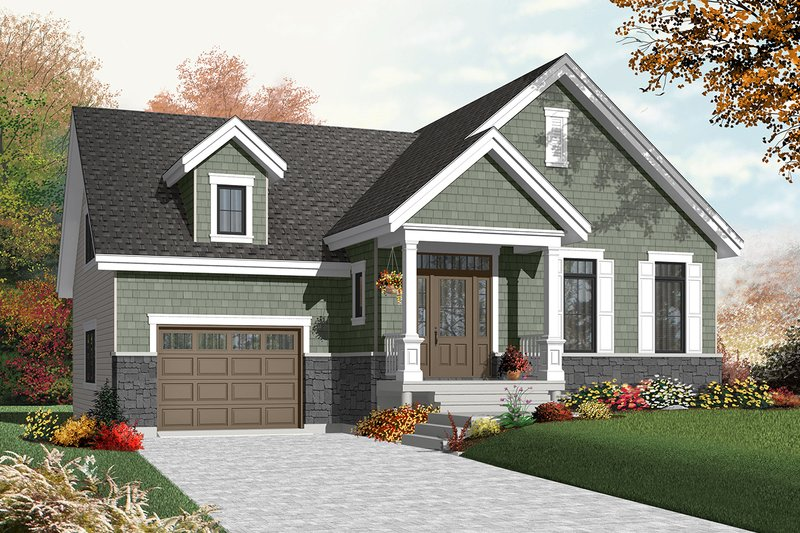 Dream House Plan - Ranch Exterior - Front Elevation Plan #23-2434