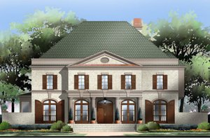 European Exterior - Front Elevation Plan #119-122