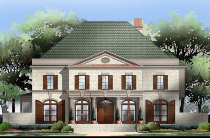 European Exterior - Front Elevation Plan #119-122 - Houseplans.com