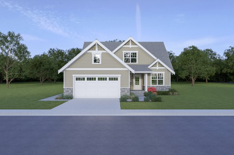 Dream House Plan - Craftsman Exterior - Front Elevation Plan #1070-78